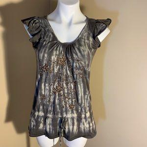 Sale 3 for $25  Grey flutter sleeved T-shirt